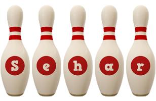 Sehar bowling-pin logo