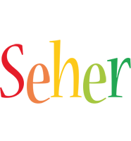 Seher birthday logo