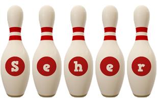 Seher bowling-pin logo