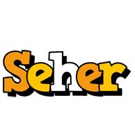 Seher cartoon logo