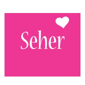 Seher love-heart logo