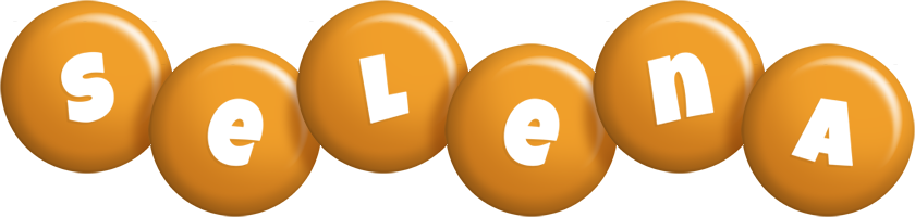 Selena candy-orange logo