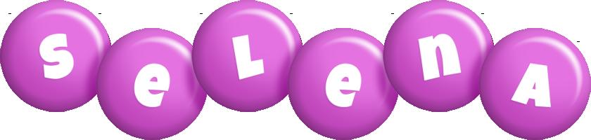 Selena candy-purple logo