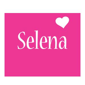 Selena love-heart logo
