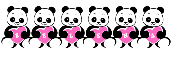 Selena love-panda logo