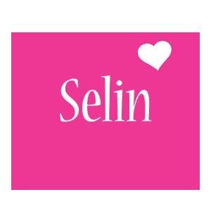 Selin love-heart logo