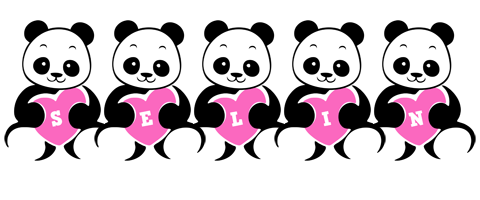 Selin love-panda logo