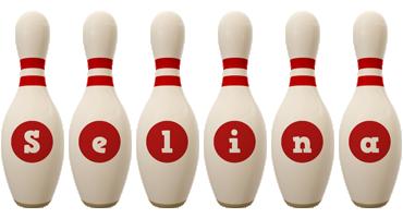 Selina bowling-pin logo