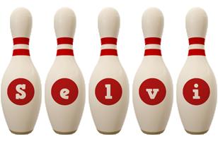 Selvi bowling-pin logo