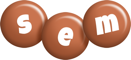 Sem candy-brown logo
