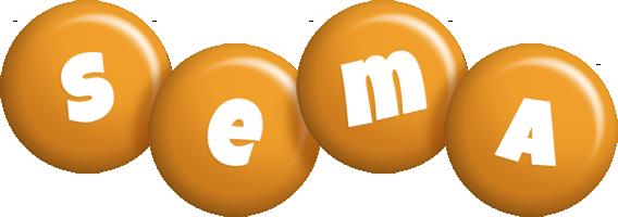Sema candy-orange logo
