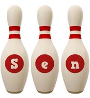 Sen bowling-pin logo