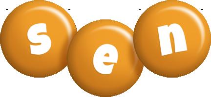 Sen candy-orange logo