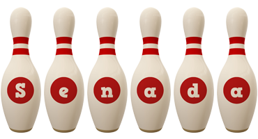 Senada bowling-pin logo
