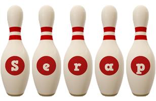 Serap bowling-pin logo