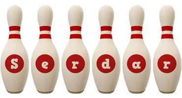 Serdar bowling-pin logo