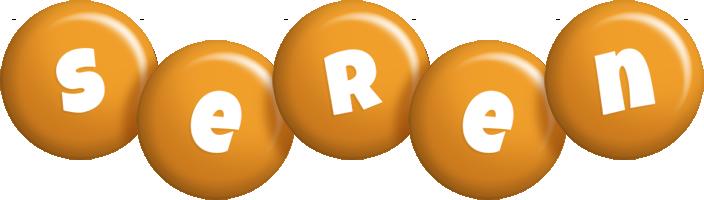 Seren candy-orange logo