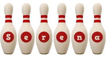 Serena bowling-pin logo