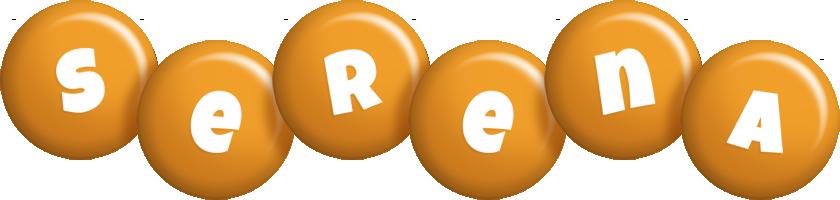 Serena candy-orange logo