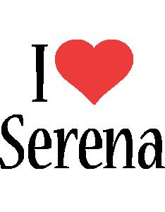 Serena i-love logo