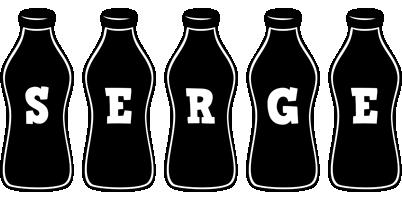 Serge bottle logo