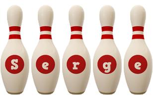 Serge bowling-pin logo