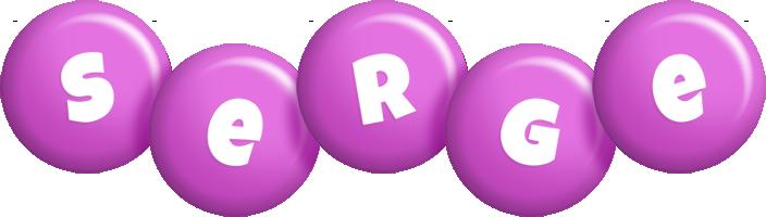 Serge candy-purple logo