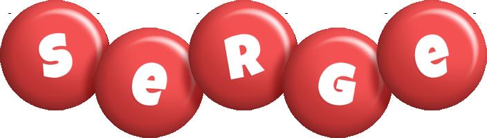 Serge candy-red logo