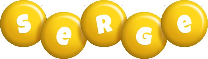 Serge candy-yellow logo