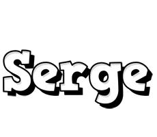 Serge snowing logo