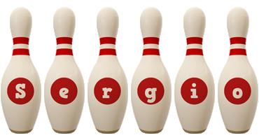 Sergio bowling-pin logo