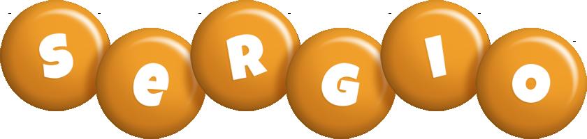 Sergio candy-orange logo