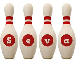 Seva bowling-pin logo