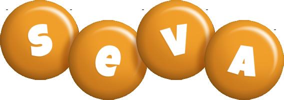 Seva candy-orange logo
