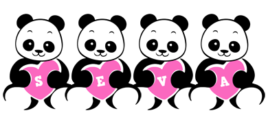 Seva love-panda logo