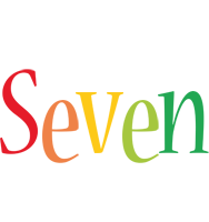 Seven birthday logo