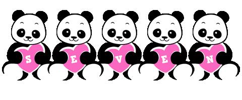 Seven love-panda logo