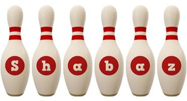 Shabaz bowling-pin logo