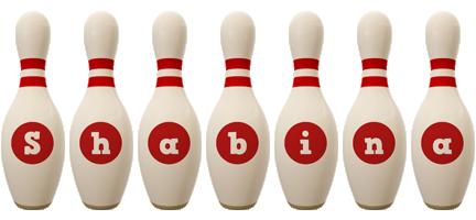 Shabina bowling-pin logo
