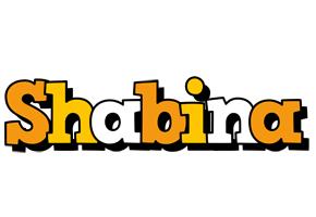 Shabina cartoon logo