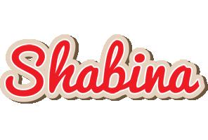 Shabina chocolate logo