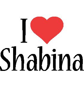 Shabina i-love logo