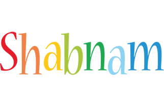 Shabnam birthday logo
