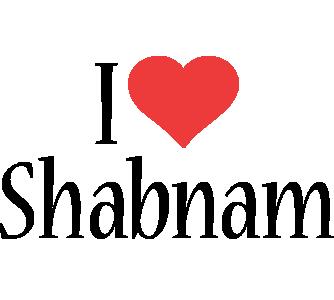 Shabnam i-love logo