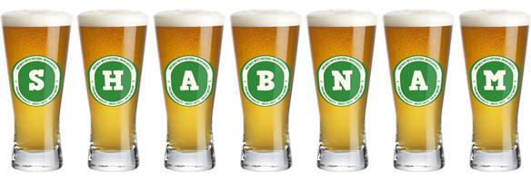 Shabnam lager logo