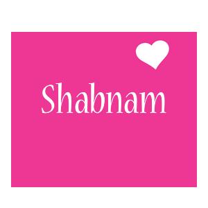 Shabnam love-heart logo