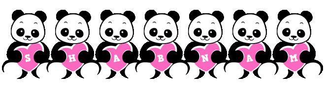 Shabnam love-panda logo