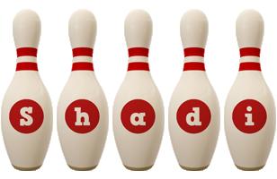 Shadi bowling-pin logo