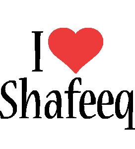 Shafeeq i-love logo