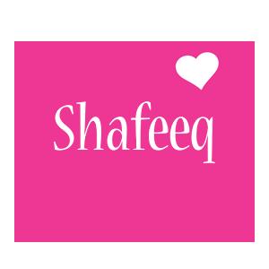 Shafeeq love-heart logo